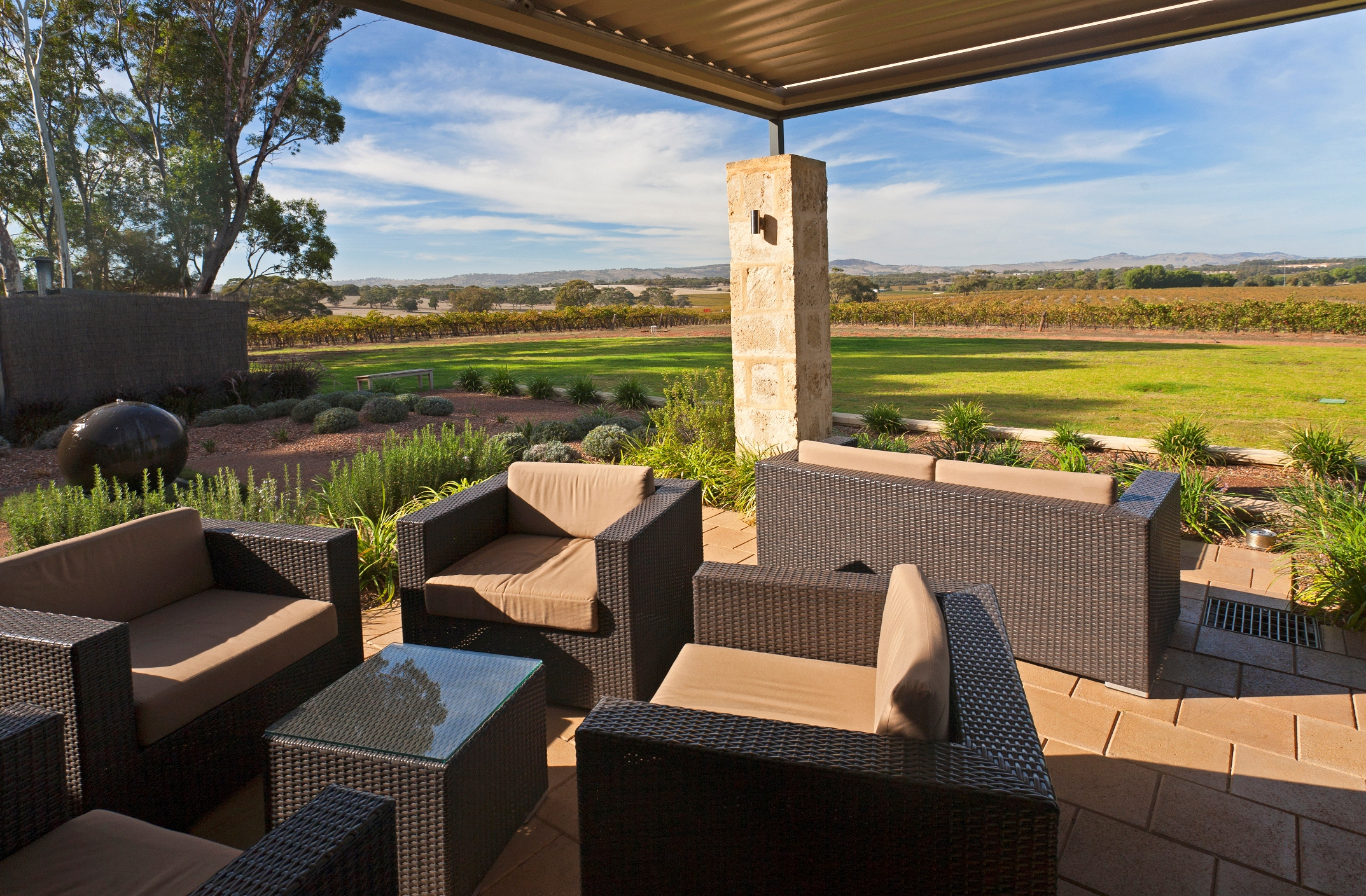 The terrace at Appelation, The Louise, Barossa Valley