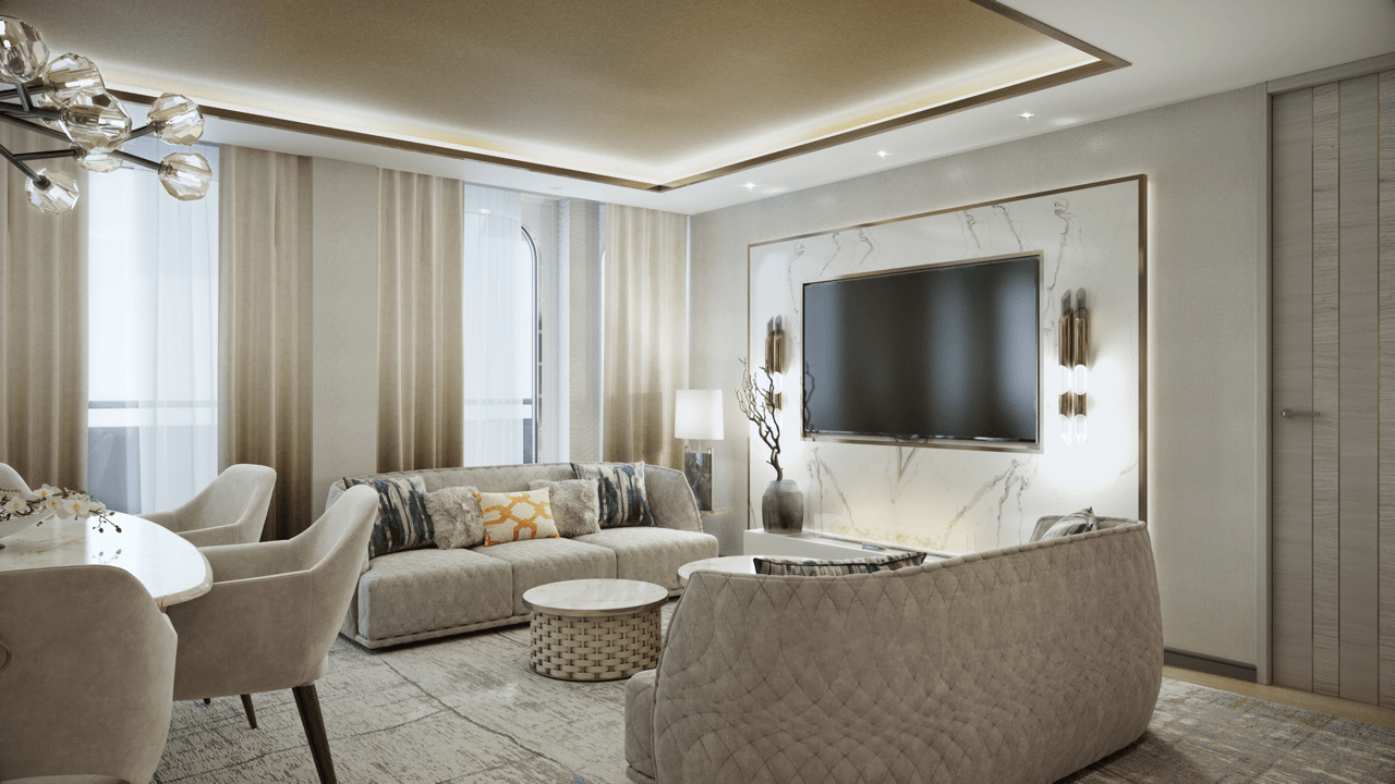 Crystal Endeavor – Crystal Penthouse Suite Living Room