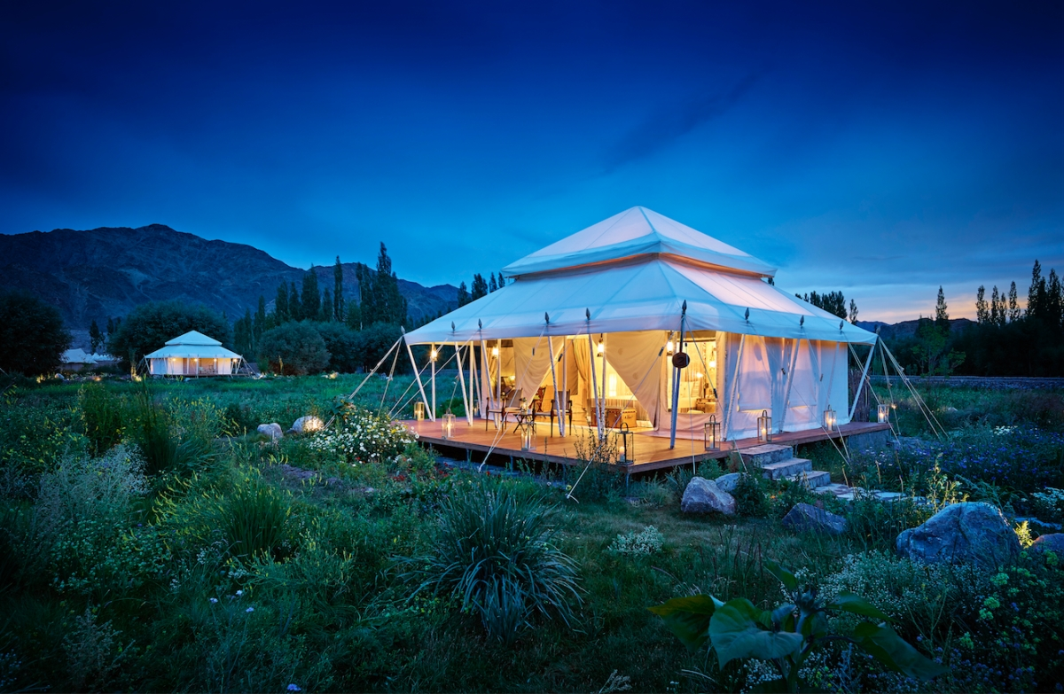 Luxury Suite Tent at Chamba Camp Thiskey, Ladakh