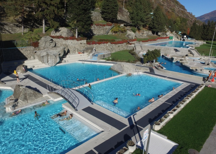 Thermal and Wellness pools in Brigerbad