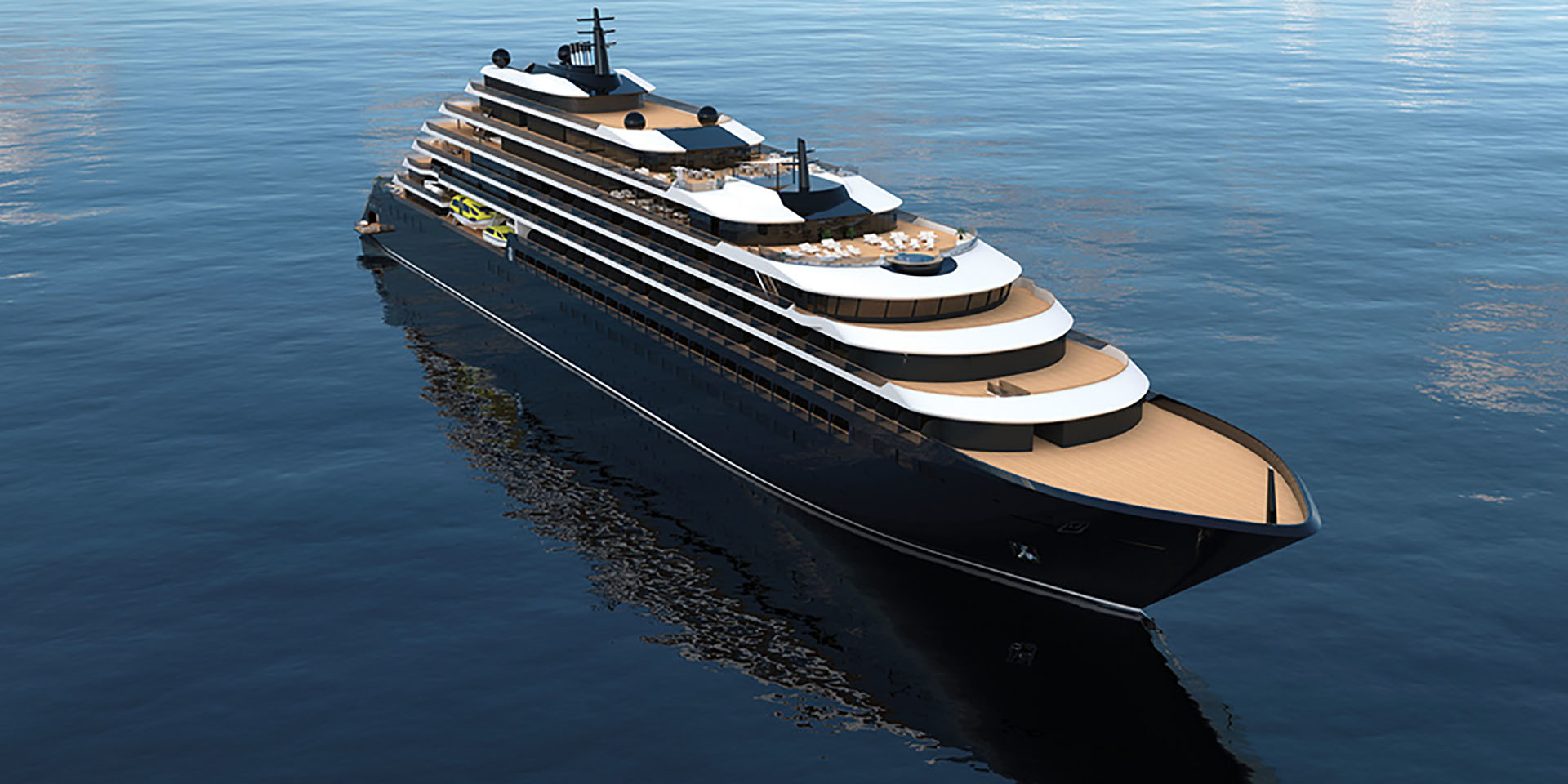 Rendering of a Ritz-Carlton Yacht Collection vessel