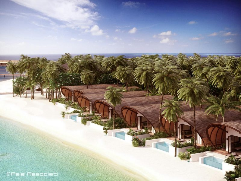 The Westin Maldives Miriandhoo Resort – Island Villas Aerial
