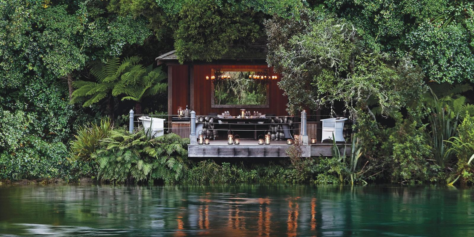 Jetty pavilion, Huka Lodge