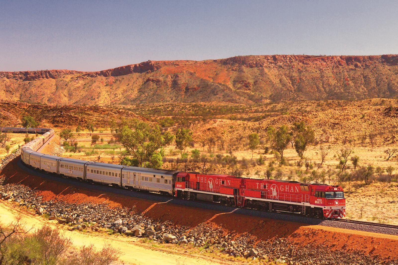 The Ghan Expedition travels though spectacular scenery from Darwin to Adelaide. Picture supplied by Great Southern Rail
