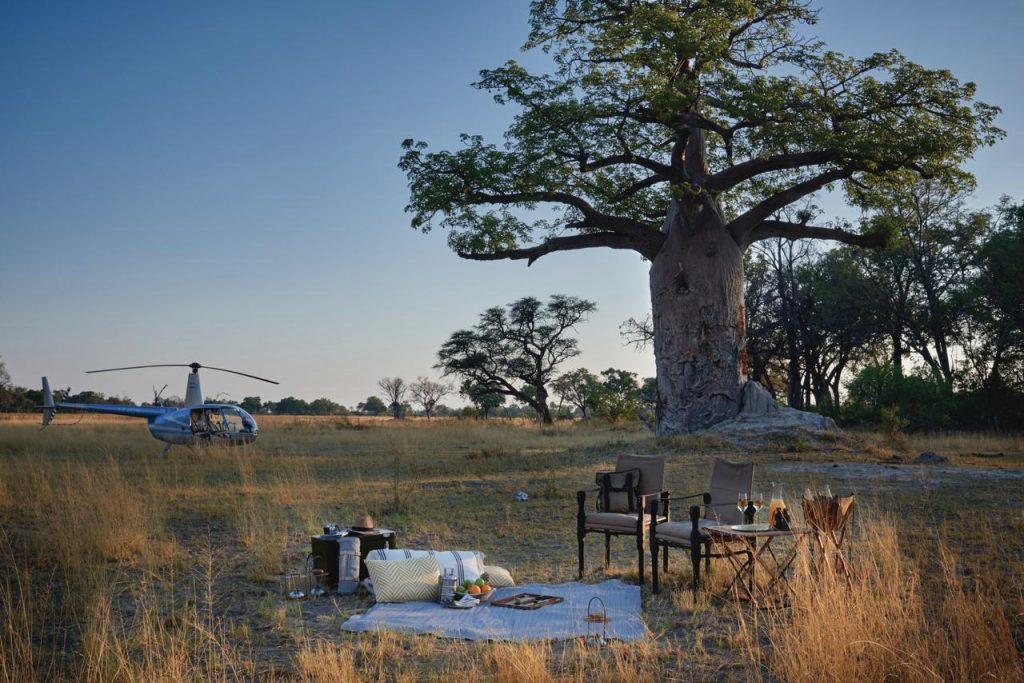 Belmond Eagle Island Lodge helicopter experience