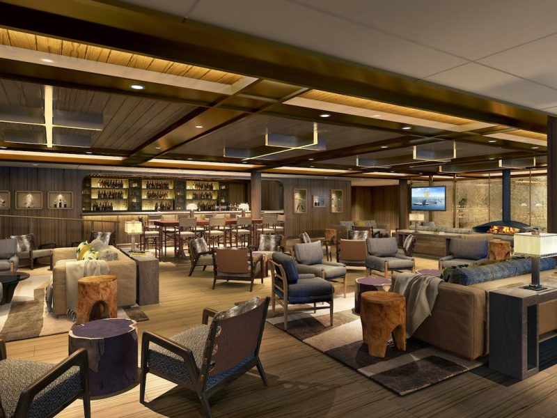 Seabourn expedition ships – Expedition Lounge rendering