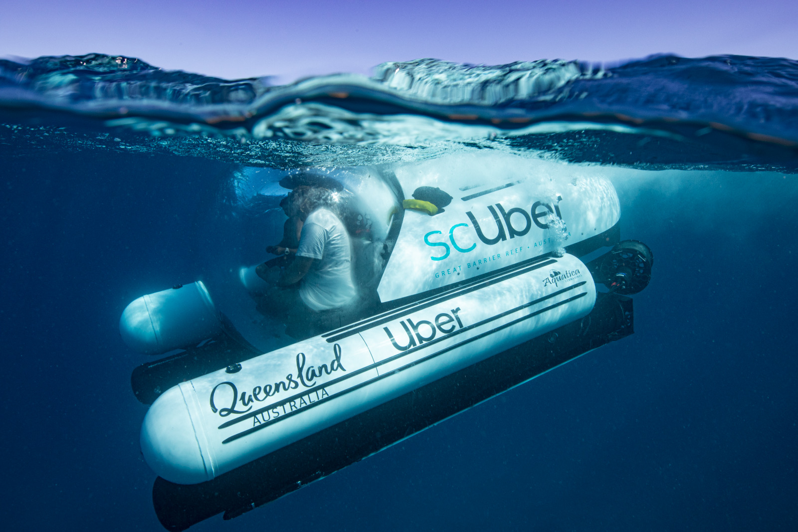 World's First Rideshare Submarine Has Launched at the Great Barrier Reef