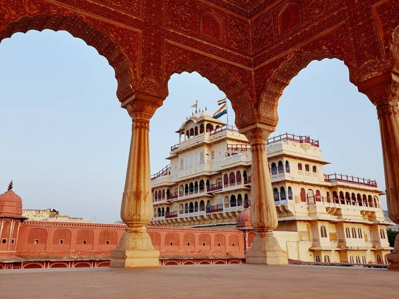 Exterior view of the City Palace, Jaipur, India