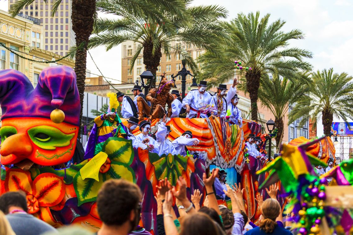 Mardi Gras in Louisiana, USA