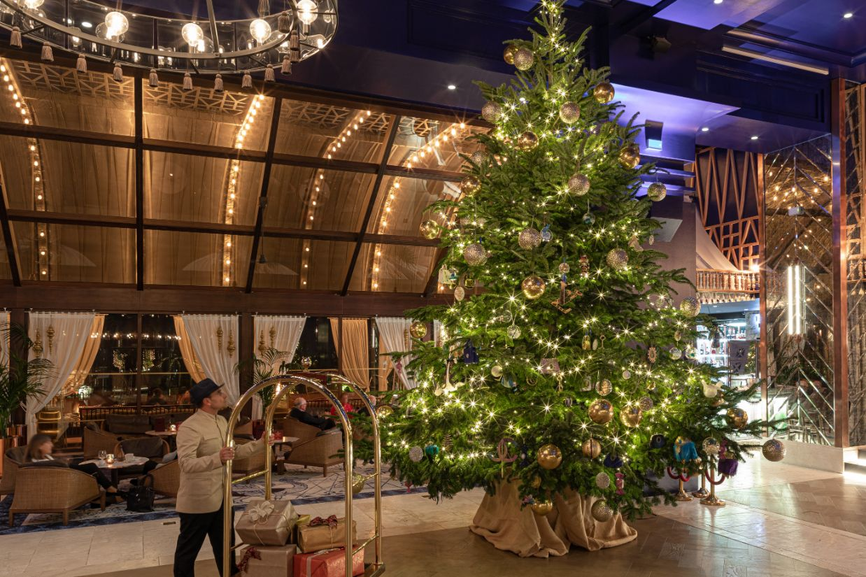 This Spanish Hotel Has a $22 Million Christmas Tree on Display